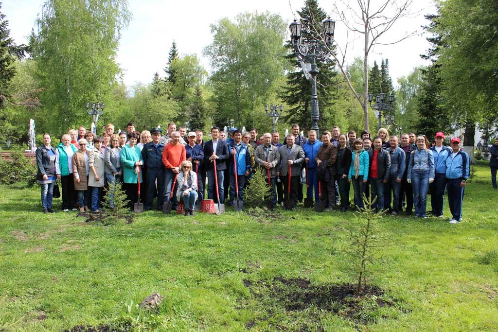 20 мая в Горно-Алтайске состоялась традиционная Всероссийская акция посадки леса